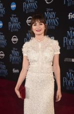 EMILY MORTIMER at Mary Poppins Returns Premiere in Hollywood 11/29/2018