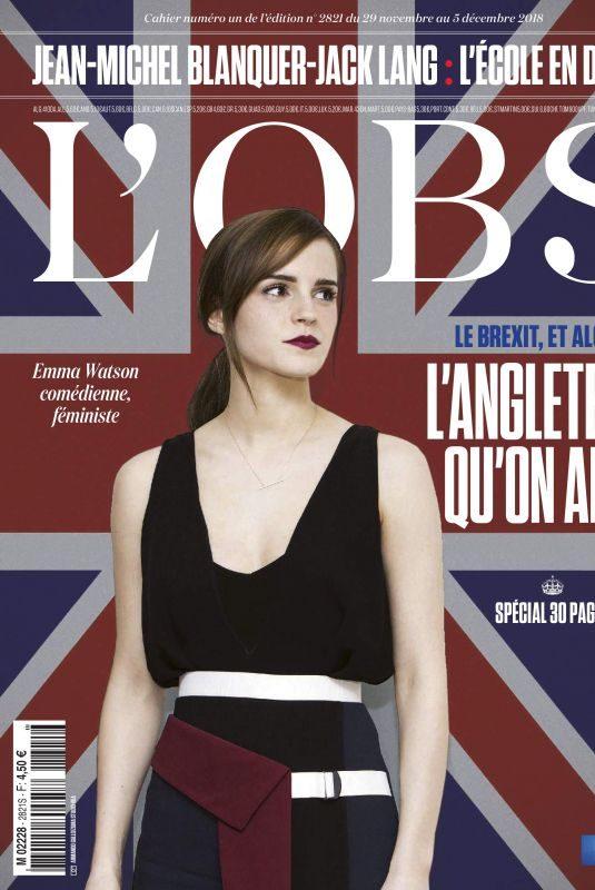 EMMA WATSON in L'Obs, November 2018 Issue
