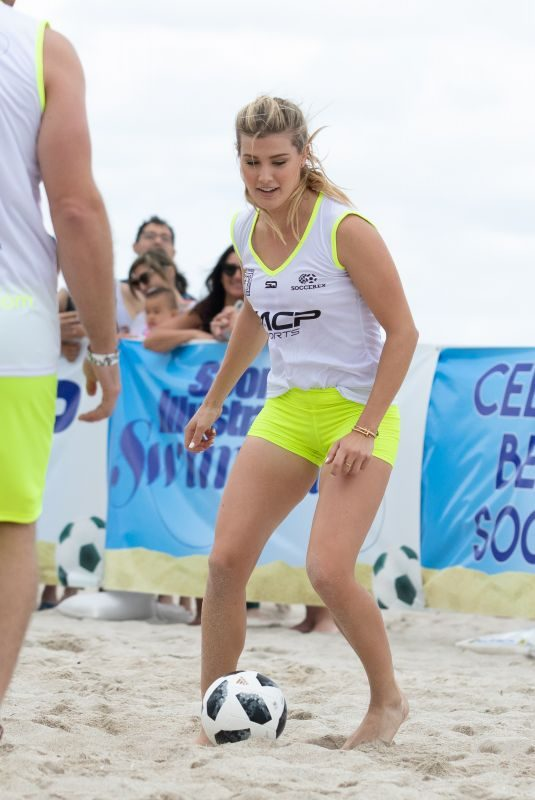 EUGENIE BOUCHARD at Sports Illustrated's Celebrity Beach Soccer Match in Miami 11/17/2018