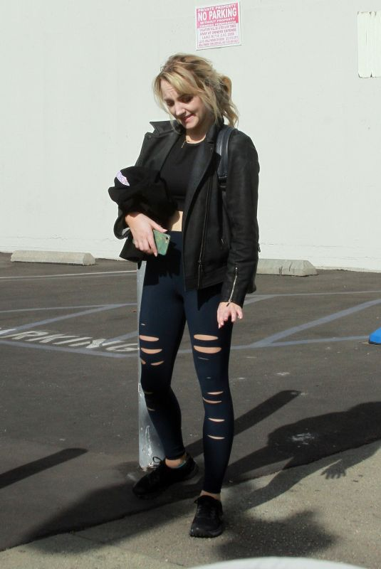 EVANNA LYNCH Arrives at DWTS Studio in Los Angeles 11/17/2018