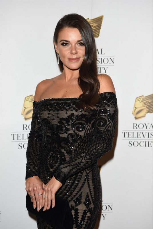 FAYE BROOKES at RTS Awards 2018 in Manchester 11/10/2018