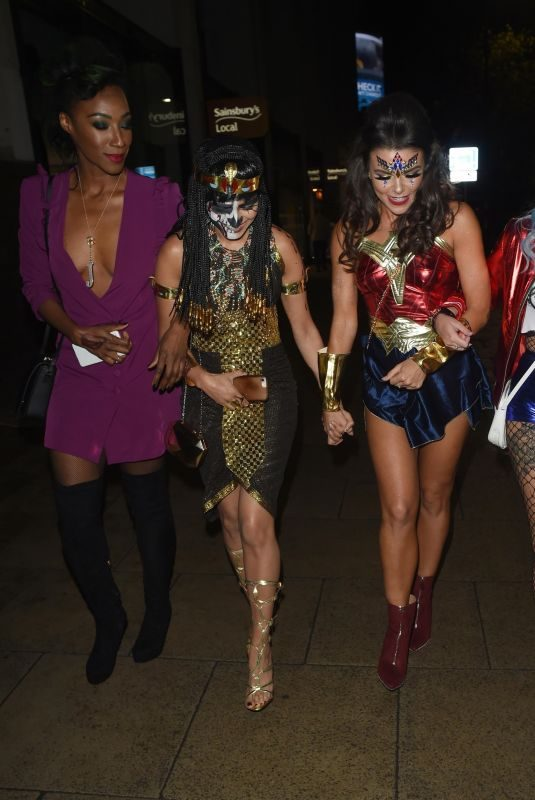 FAYE BROOKES, LUCY FALLON, BHAVNA LIMBACHIA and VICTORIA EKANOYE at Mirror Halloween Ball in Manchester 10/31/2018