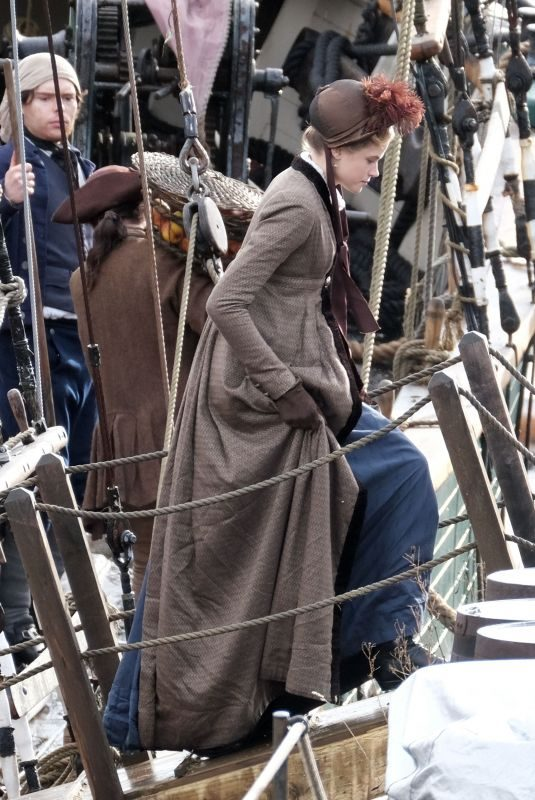 GABRIELLE WILDE on the Set of Poldark in Charleston 11/07/2018
