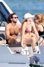 GIGI HADID in Bikini at a Yacht in Miami 11/25/2018