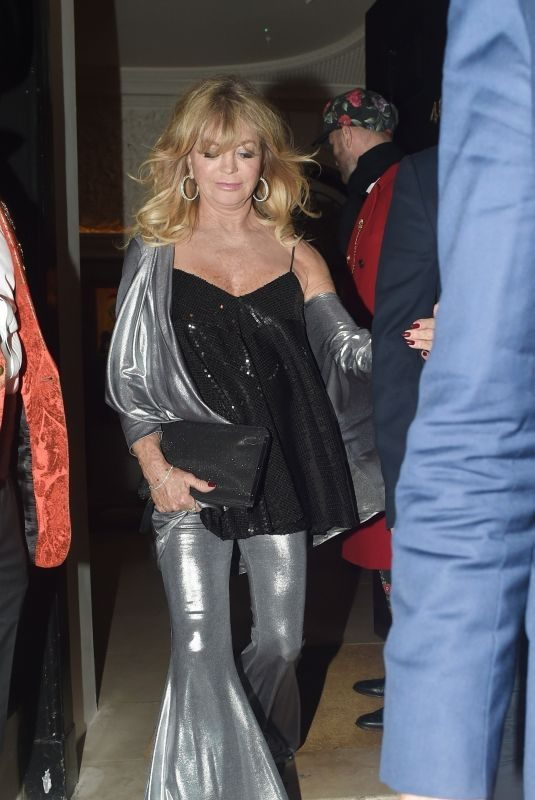 GOLDIE HAWN at Goldie's Love in Charity Fundraiser in London 11/12/2018