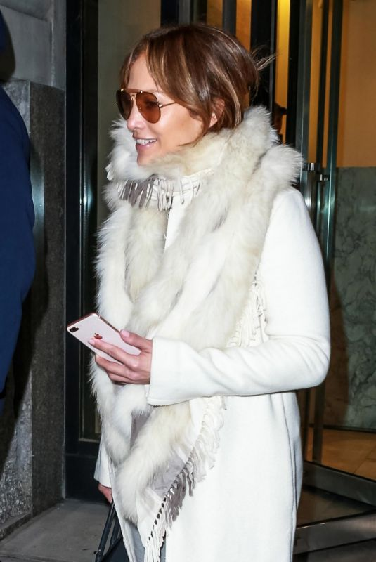 JENNIFER LOPEZ Out in New York 11/27/2018
