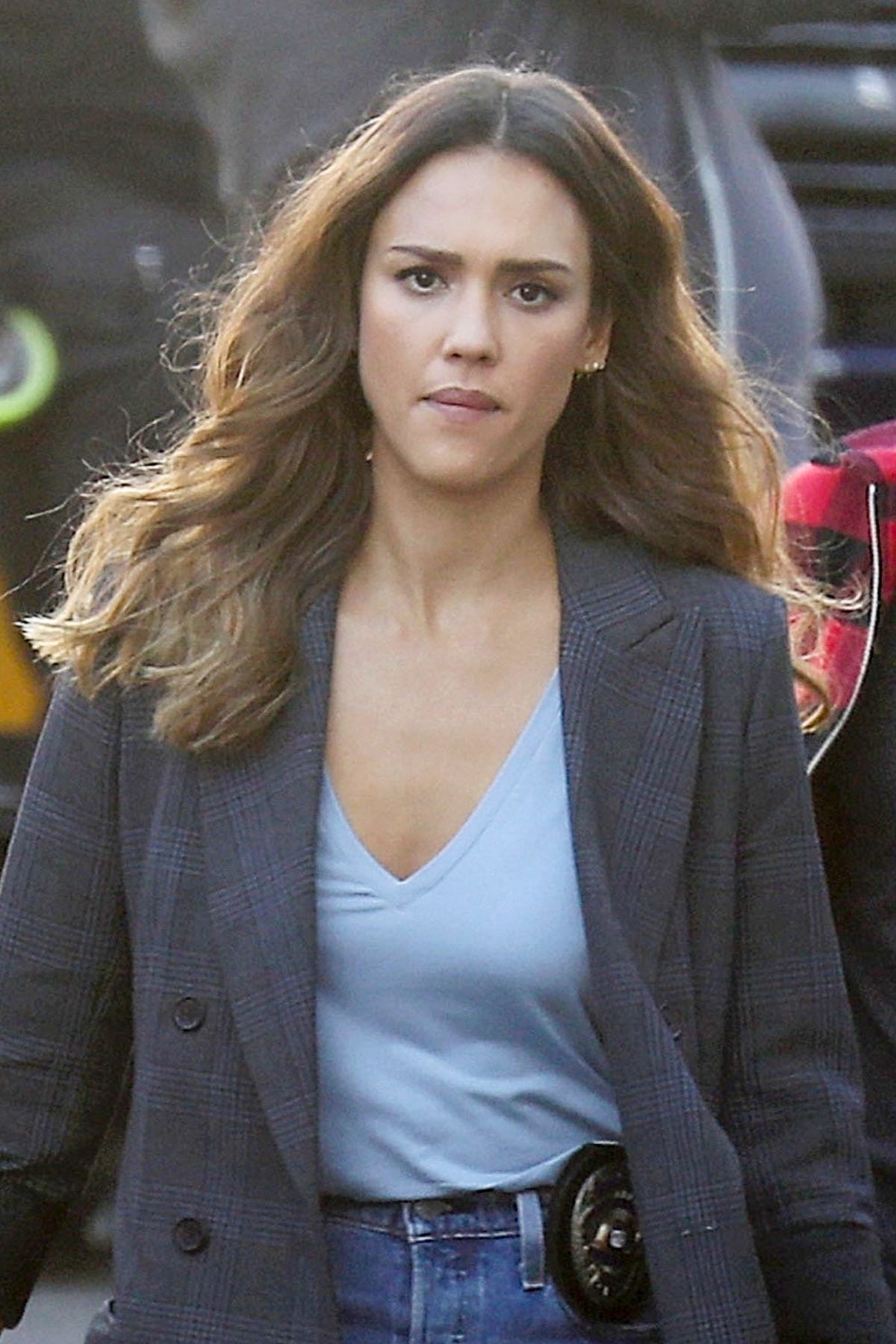 JESSICA ALBA on the Set of LA's Finest in Los Angeles 11 ...