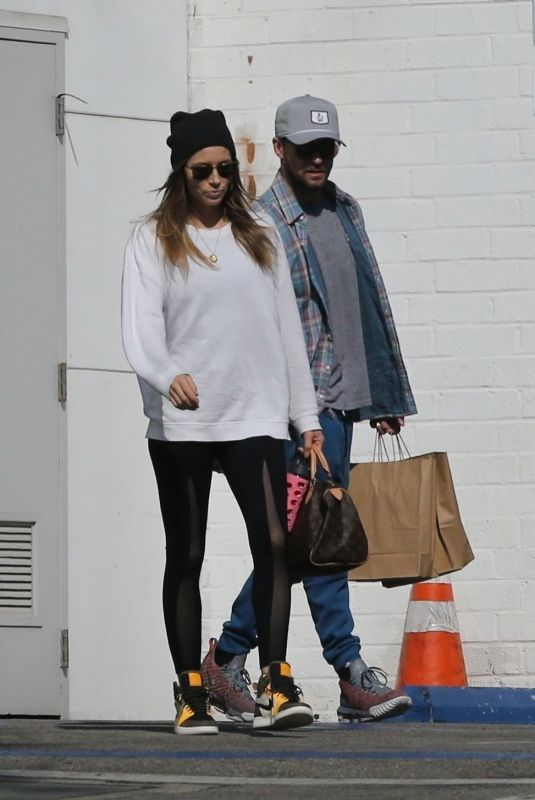 JESSICA BIEL and Justin Timberlake Out in West Hollywood 11/11/2018