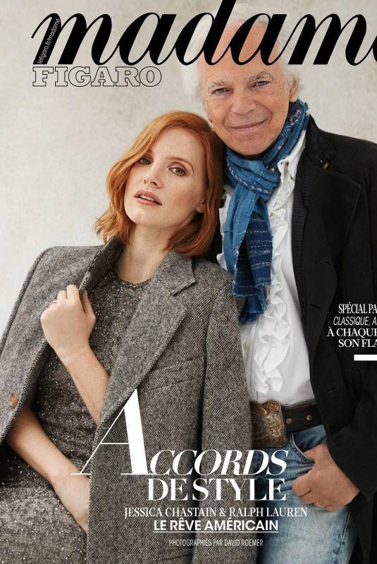 JESSICA CHASTAIN in Madame Figaro Magazine, November 2018