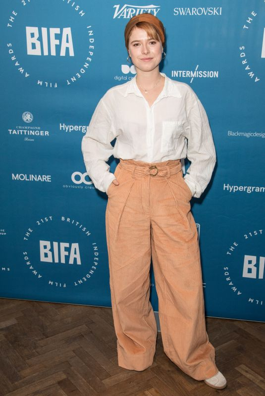 JESSIE BUCKLEY at British Independent Film Awards Nominations in London 10/31/2018