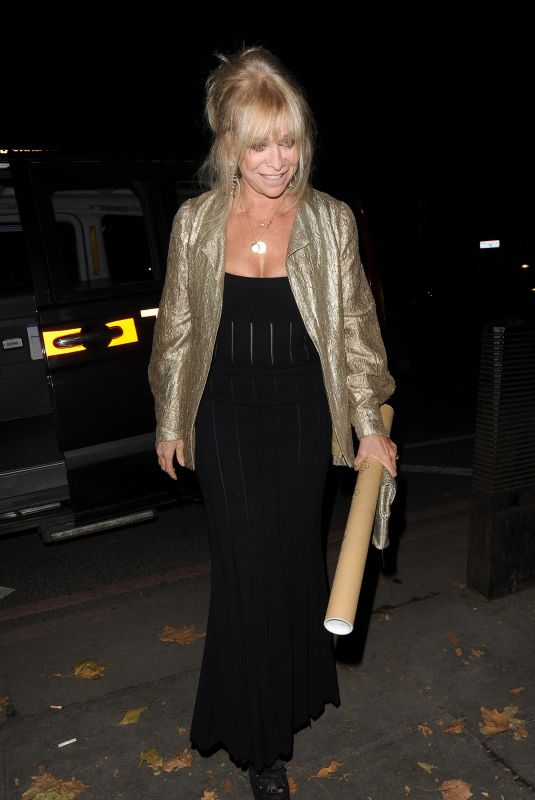 JO WOOD Arrives at Phil Turner's 50th Birthday Party in London 11/14/2018