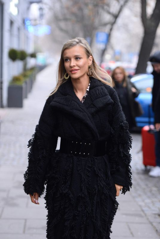 JOANNA KRUPA Out and About in Warsaw 11/25/2018