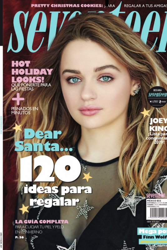 JOEY KING in Seventeen Magazine,Mexico December 2018 Issue