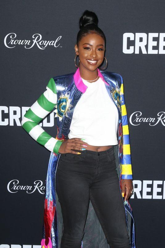 JUSTINE SKYE at Creed II Premiere in New York 11/14/2018