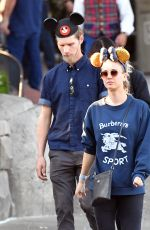 KALEY CUOCO at Disneyland in Anaheim 11/25/2018