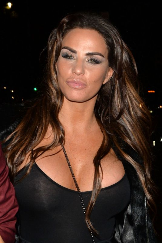 KATIE PRICE Night Out in London 11/14/2018