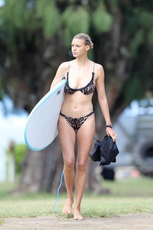 KELLY ROHRBACH in Bikini Surfing in Hawaii 11/11/2018