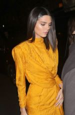 KENDALL JENNER Night Out in London 11/15/2018