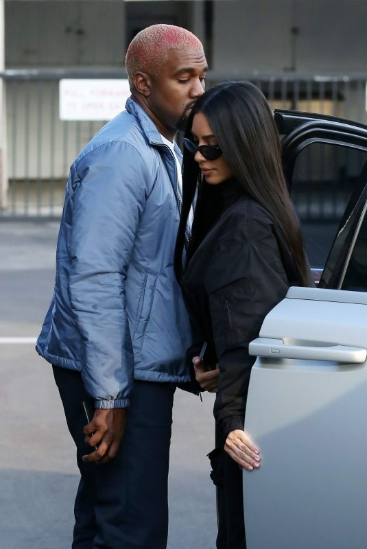 KIM KARDASHIAN and Kanye West Out in Los Angeles 11/17/2018