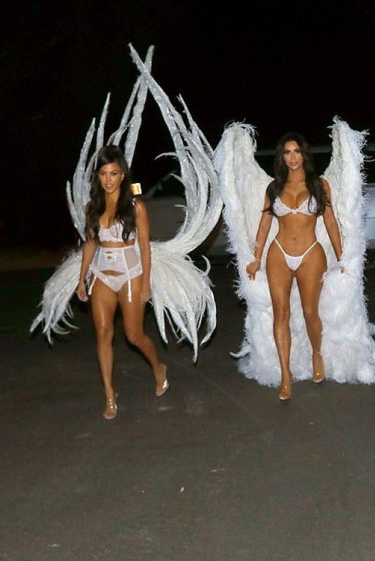 Kardashian Angels Halloween 2020 KIM, KOURTNEY and KHLOE KARDASHIAN and KENDALL and KYLIE JENNER as