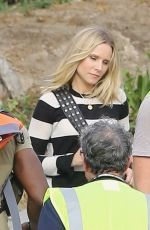 KRISTEN BELL on the Set of Her New Movie in Malibu 11/01/2018