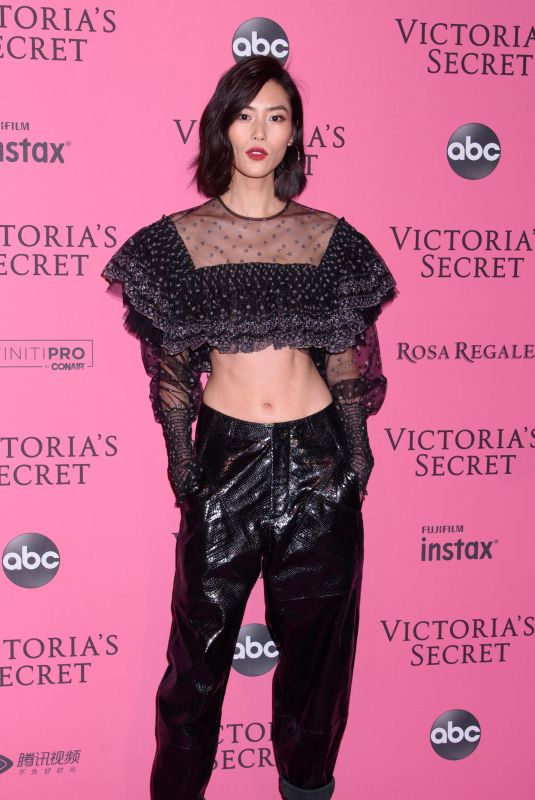 LIU WEN at VS Fashion Show Afterparty in New York 11/07/2018