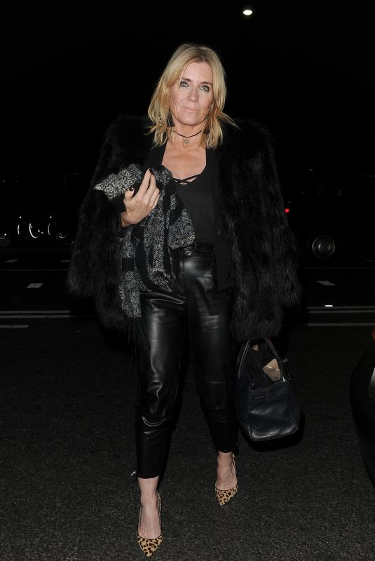 MICHELLE COLLINS Arrives at Phil Turner's 50th Birthday Party in London 11/14/2018