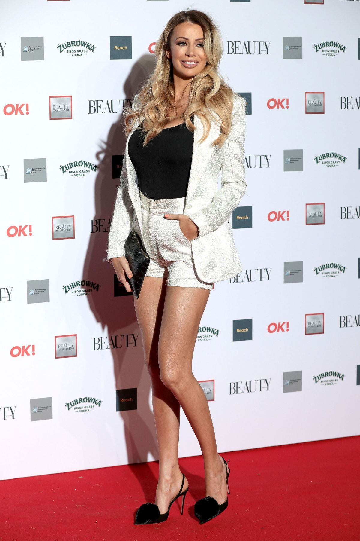 OLIVIA ATTWOOD at Beauty Awards 2018 in London 11/26/2018