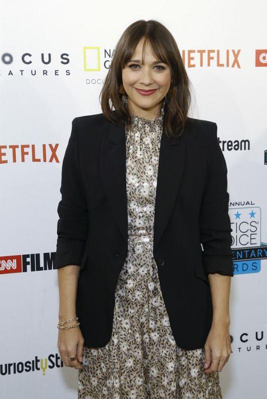 RASHIDA JONES at Critics' Choice Documentary Awards in New York 11/10/2018