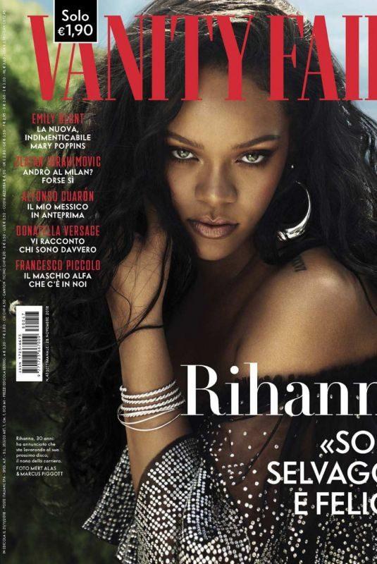 RIHANNA in Vanity Fair Magazine, Italy November 2018 Issue