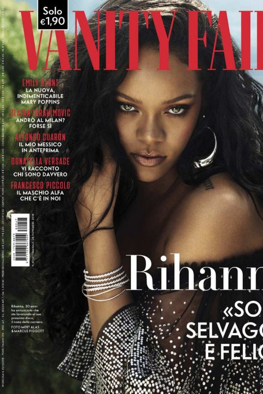 RIHANNA in Vanity Fair Magazine, Italy November 2018 Issue