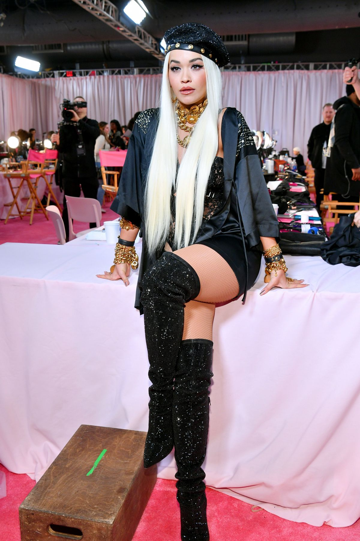 07b17959be2 RITA ORA on the Backstage of Victoria s Secret Fashion Show in New York 11  08 2018