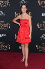SADIE STANLEY at The Nutcracker and the Four Realms Premiere in Los Angeles 10/29/2018