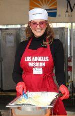 SANDRA TAYLOR at Los Angeles Mission Thanksgiving Event 11/21/2018