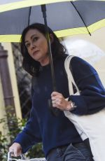 SHANNEN DOHERTY Leaves Her Hotel in Rome 11/04/2018