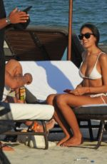 SHARON FONSECA in Bikini and Gianluca Vacchi at a Beach in Miami 11/20/2018
