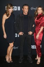 SISTINE STALLONE and JENNIFER FLAVIN at Creed II Premiere in New York 11/14/2018