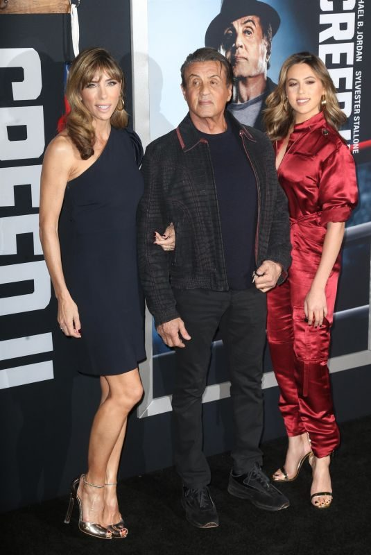 SISTINE STALLONE and JENNIFER FLAVIN at Creed II Premiere in New York 11/14/2018
