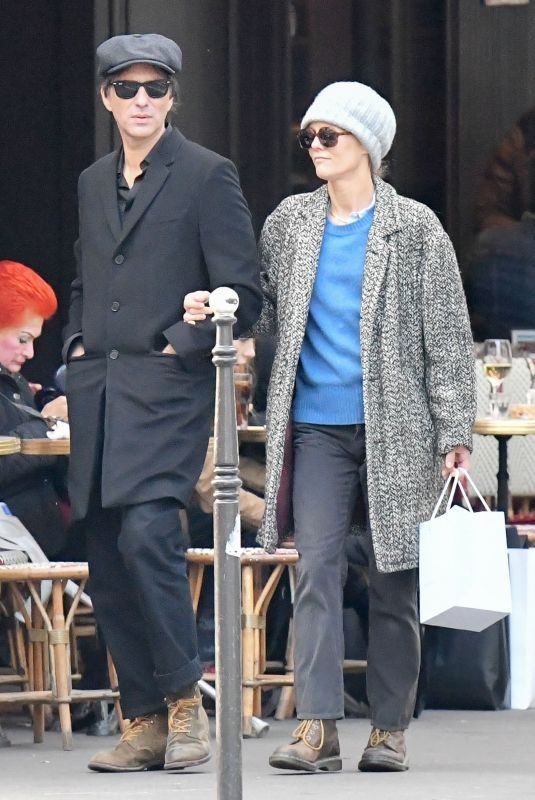 VANESSA PARADIS and Samuel Benchetrit Out in Paris 11/14/2018