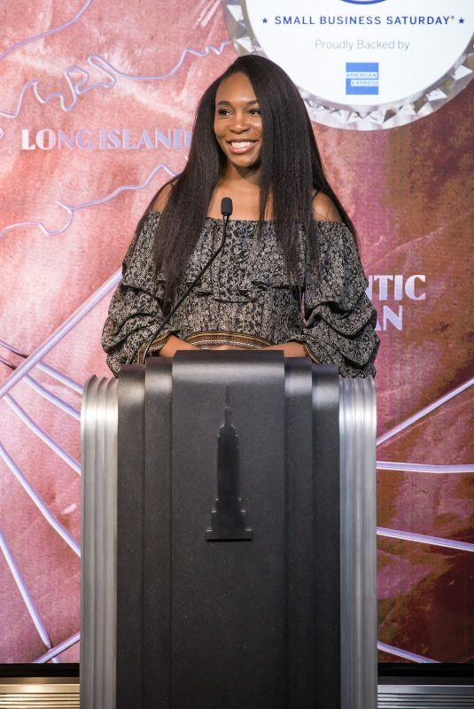 VENUS WILLIAMS Lights Empire State Building in Support of Small Business 11/21/2018