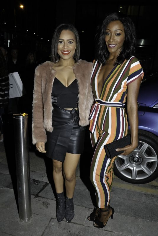 VICTORIA EKANOYE and TISHA MERRY at Ivy Spinningfield's VIP Launch Party in Manchester 11/23/2018
