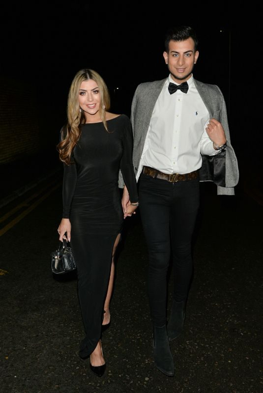 ABIGAIL CLARKE and Juanid Ahmed Night Out in London 12/19/2018