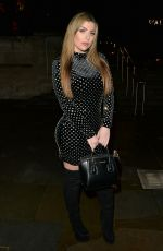 ABIGAIL CLARKE Arrives at Junaid Ahmed Brithday Party in London 12/18/2018