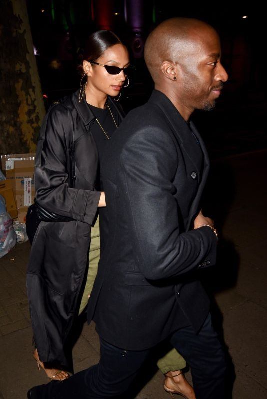 ALESHA DIXON Night Out in London 12/14/2018