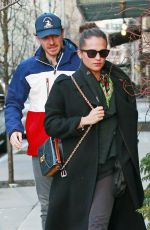 ALICIA VIKANDER and Michael Fassbender Out for Lunch in New York 12/18/2018