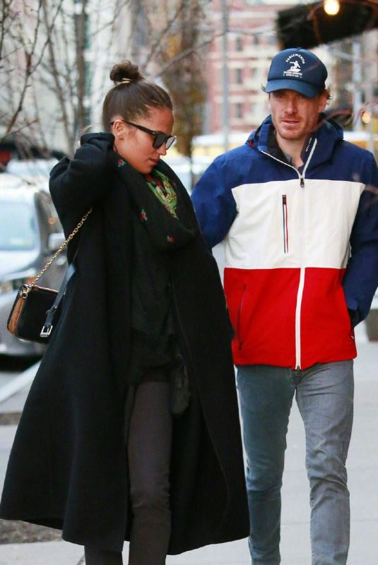 ALICIA VIKANDER and Michael Fassbender Out in New York 12/18/2018