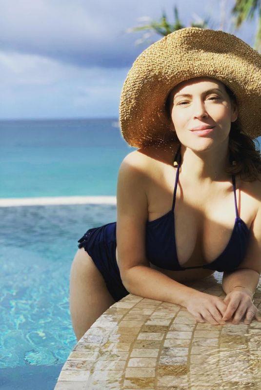 ALYSSA MILANO in Bikini at a Pool 12/03/2018 Instagram Pictures