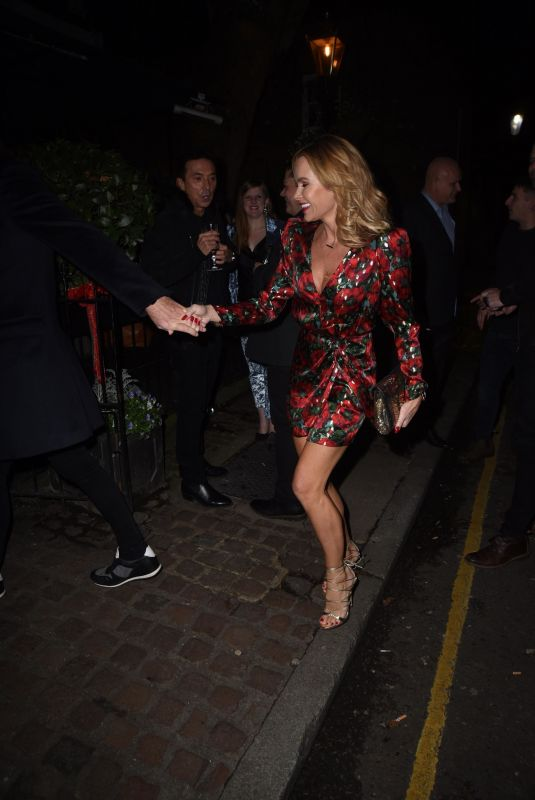 AMANDA HOLDEN at Piers Morgans Christmas Party in London 12/20/2018
