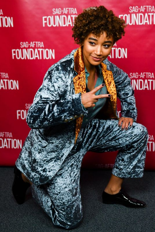 AMANDLA STENBERG at Sag-aftra Foundation The Hate U Give Screening in Los Angeles 12/05/2018