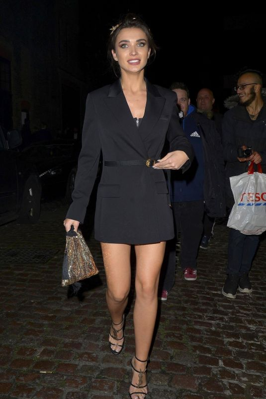 AMY JACKSON Arrives at British Fashion Awards Party in London 12/10/2018